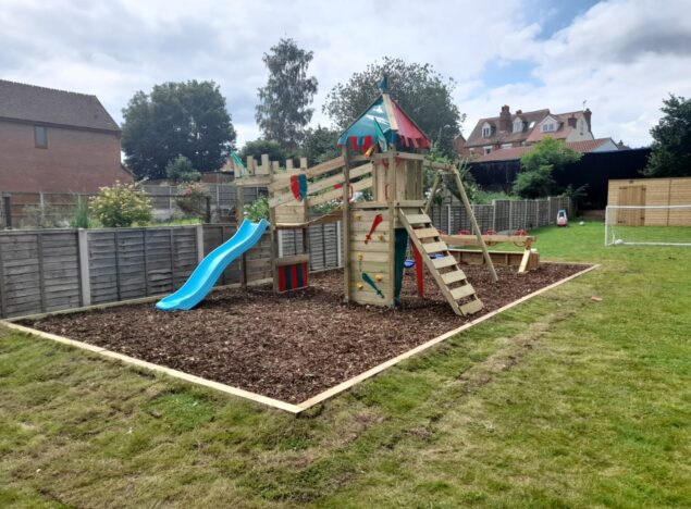 Building a play area for the children